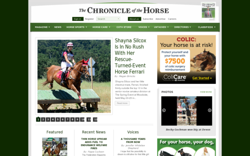 Access chronofhorse.com using Hola Unblocker web proxy