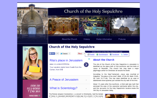Access churchoftheholysepulchre.net using Hola Unblocker web proxy