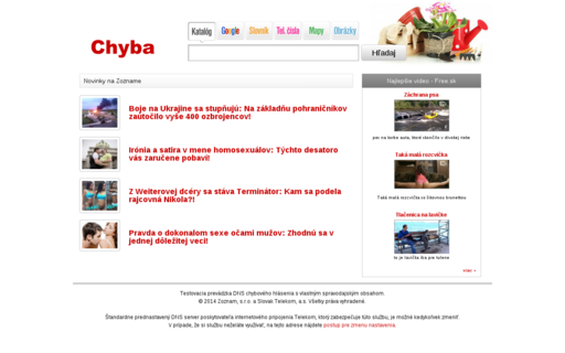 Access chyba.sk using Hola Unblocker web proxy