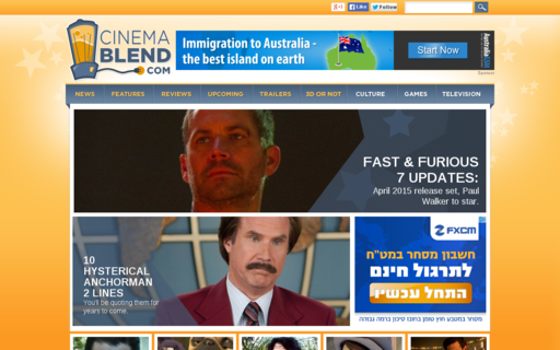 Access cinemablend.com using Hola Unblocker web proxy
