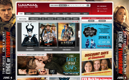 Access cinemark.com using Hola Unblocker web proxy