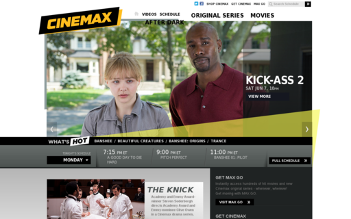 Access cinemax.com using Hola Unblocker web proxy