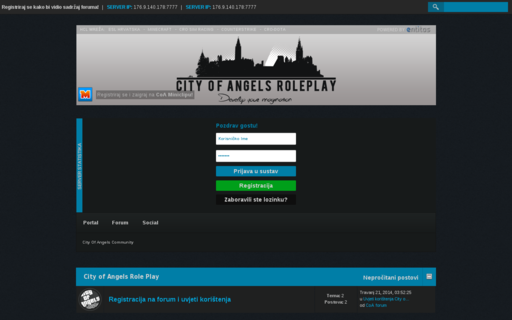 Access cityofangels-roleplay.com using Hola Unblocker web proxy