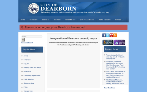 Access cityofdearborn.org using Hola Unblocker web proxy