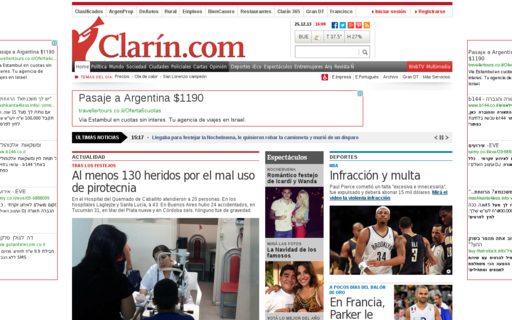 Access clarin.com using Hola Unblocker web proxy
