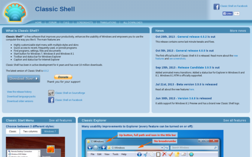 Access classicshell.net using Hola Unblocker web proxy