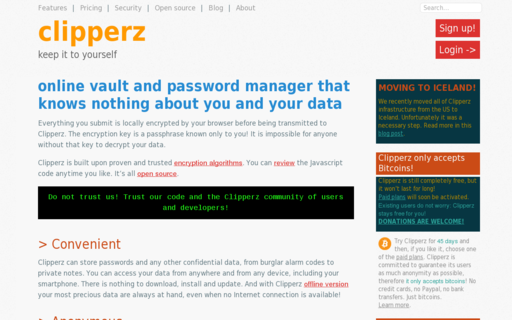 Access clipperz.com using Hola Unblocker web proxy