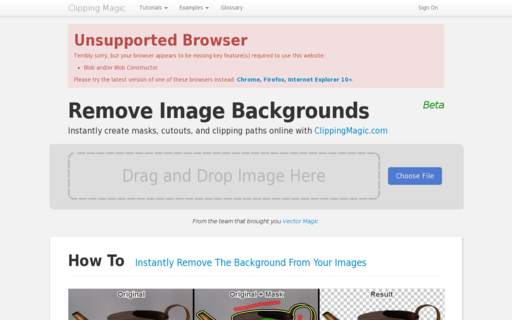Access clippingmagic.com using Hola Unblocker web proxy