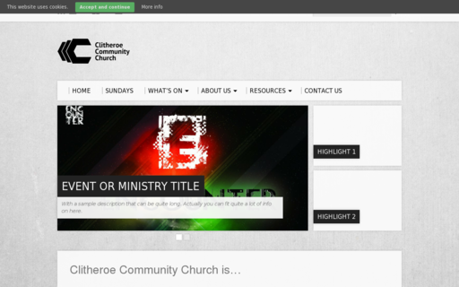 Access clitheroecommunitychurch.org using Hola Unblocker web proxy
