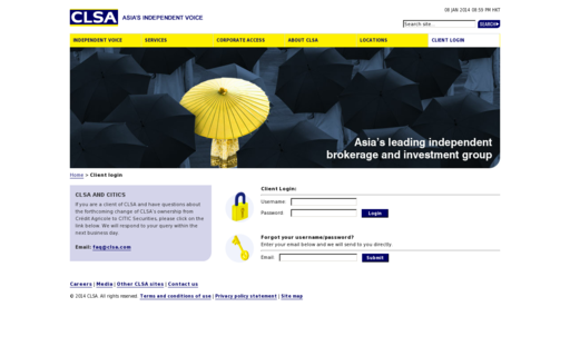 Access clsa.com using Hola Unblocker web proxy