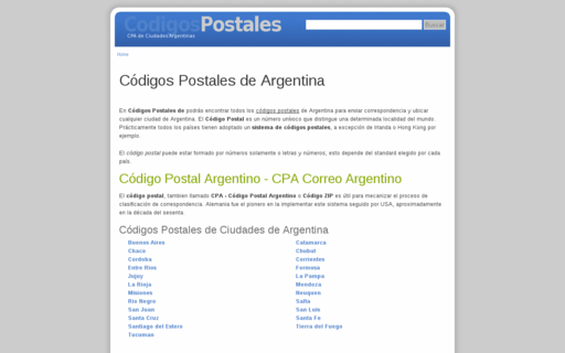 Access codigopostalde.com.ar using Hola Unblocker web proxy