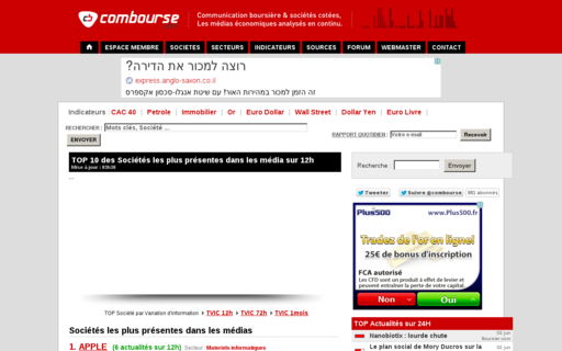 Access combourse.com using Hola Unblocker web proxy