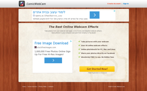 Access comicwebcam.com using Hola Unblocker web proxy