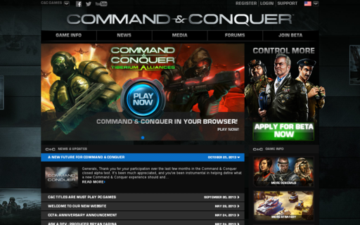 Access commandandconquer.com using Hola Unblocker web proxy