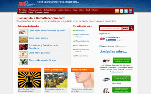 Access comohacerpara.com using Hola Unblocker web proxy