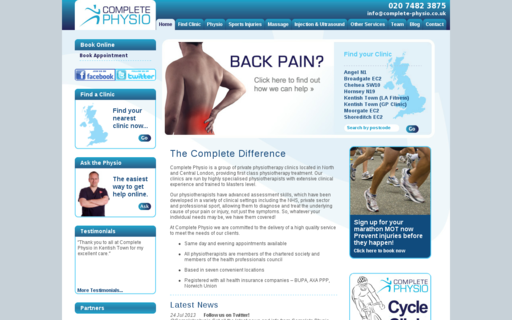 Access complete-physio.co.uk using Hola Unblocker web proxy