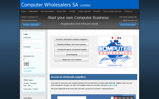 Access computerwholesalers.co.za using Hola Unblocker web proxy