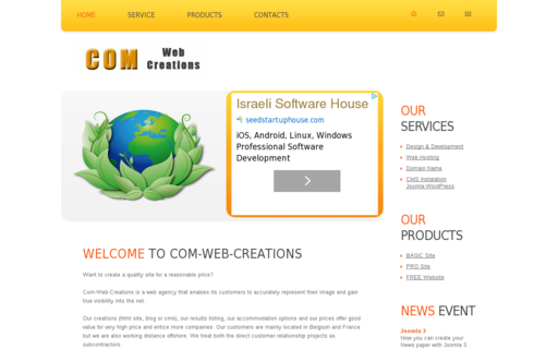 Access comwebcreations.com using Hola Unblocker web proxy