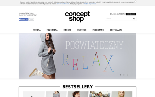 Access conceptshop.pl using Hola Unblocker web proxy