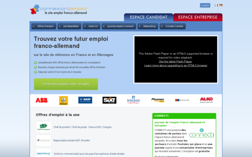 Access connexion-emploi.com using Hola Unblocker web proxy
