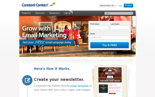 Access constantcontact.com using Hola Unblocker web proxy