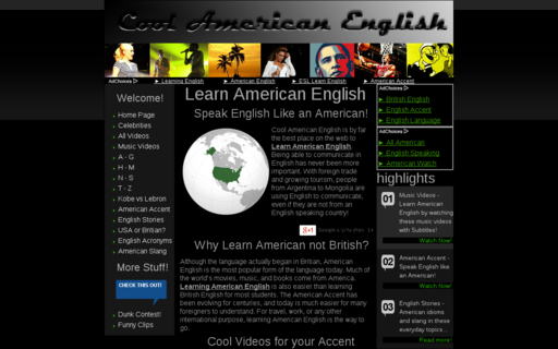Access coolamericanenglish.com using Hola Unblocker web proxy