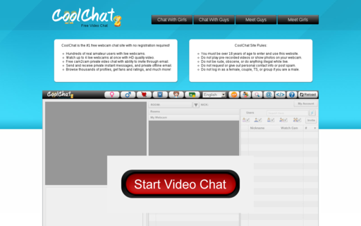 Access coolchat.com using Hola Unblocker web proxy