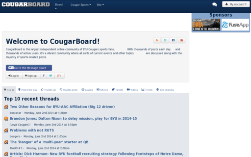 Access cougarboard.com using Hola Unblocker web proxy