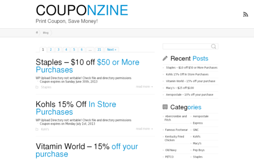 Access couponzine.net using Hola Unblocker web proxy