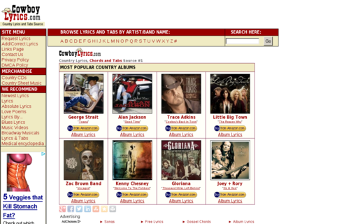 Access cowboylyrics.com using Hola Unblocker web proxy