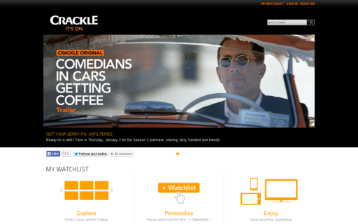 Access crackle.com using Hola Unblocker web proxy