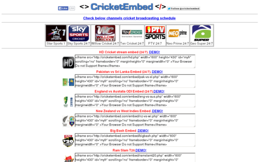 Access cricketembed.com using Hola Unblocker web proxy