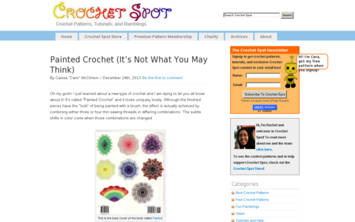 Access crochetspot.com using Hola Unblocker web proxy