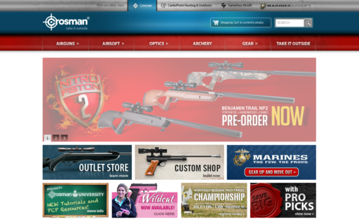 Access crosman.com using Hola Unblocker web proxy