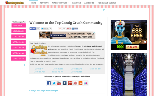 Access crushingcandies.com using Hola Unblocker web proxy