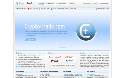 Access crypto-trade.com using Hola Unblocker web proxy