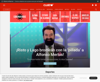 Access cuatro.com using Hola Unblocker web proxy