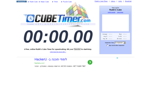 Access cubetimer.com using Hola Unblocker web proxy