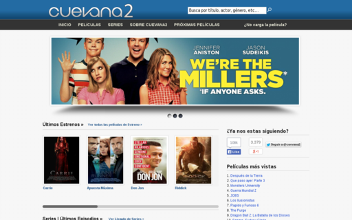 Access cuevana2.tv using Hola Unblocker web proxy