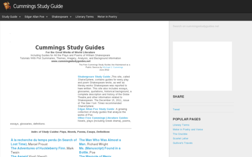 Access cummingsstudyguides.net using Hola Unblocker web proxy