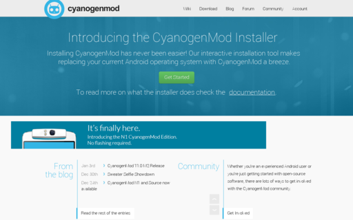 Access cyanogenmod.org using Hola Unblocker web proxy