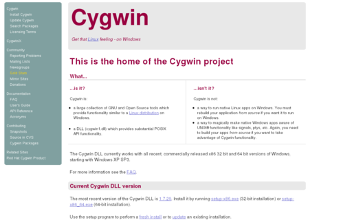 Access cygwin.com using Hola Unblocker web proxy