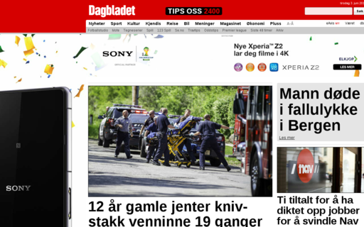 Access dagbladet.no using Hola Unblocker web proxy