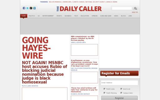 Access dailycaller.com using Hola Unblocker web proxy