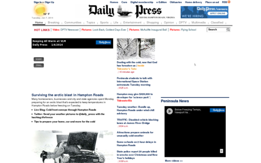 Access dailypress.com using Hola Unblocker web proxy