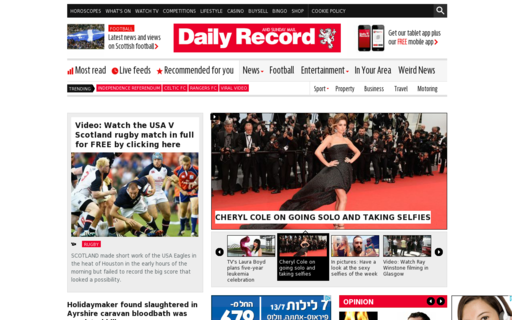 Access dailyrecord.co.uk using Hola Unblocker web proxy