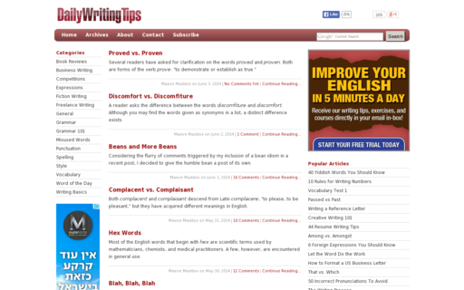 Access dailywritingtips.com using Hola Unblocker web proxy