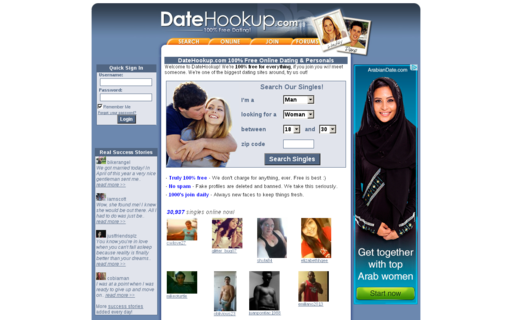 Access datehookup.com using Hola Unblocker web proxy