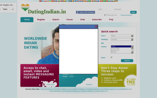 Access datingindian.in using Hola Unblocker web proxy