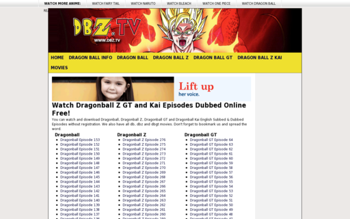 Access dbz.tv using Hola Unblocker web proxy